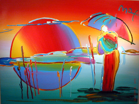 Buddha Moon - Monk Sunrise by Peter Max