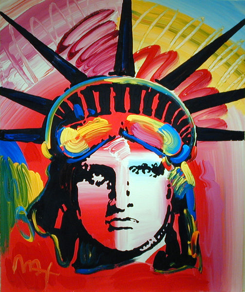 Peter Max Liberty Head 2000 at GALLERY M