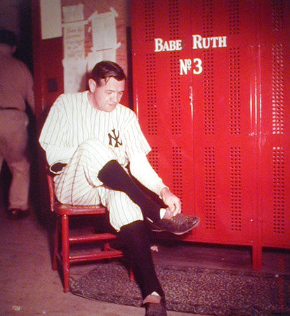 Babe Ruth Suits Up Last Time by Ralph Morse