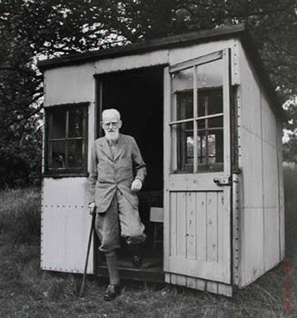 George Bernard Shaw Writing Shelter by Ralph Morse