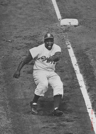 Jackie Robinson Rounds Third by Ralph Morse