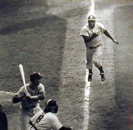 Jackie Robinson Steals Home by Ralph Morse