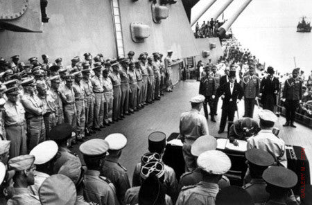 Japanese Surrender, USS Missouri by Carl Mydans
