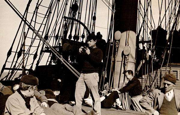 During Filming of Souls at Sea, Catalina Island, CA, 1937