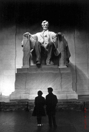 Young Americans at Lincoln Memorial by Carl Mydans