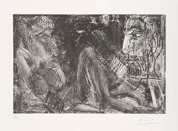 Picasso's Etchings include Peintre en demi-figure et modele au chignon