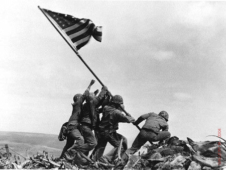 Flag Raising on Mount Suribachi, Iwo Jima