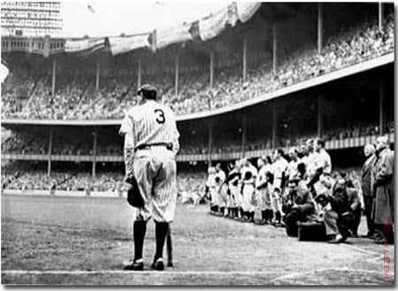 Babe Ruth Retires No. 3 by Nat Fein