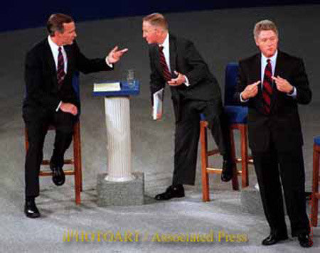 Bush, Ross Perot and Clinton by Pulitzer Prize