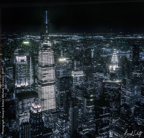 Arial View of One Vanderbilt Building at Night by Howard Schatz