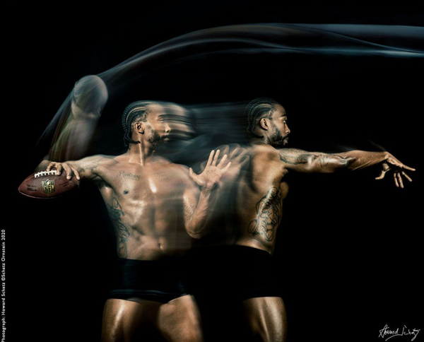 Tyrod Taylor QB 4 by Howard Schatz