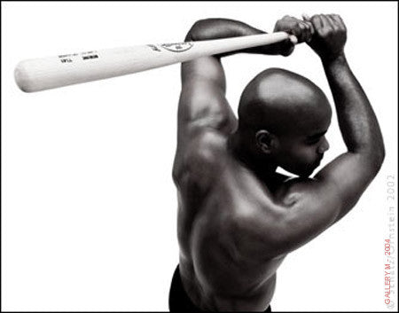 Carlos Delgado, baseball by Howard Schatz
