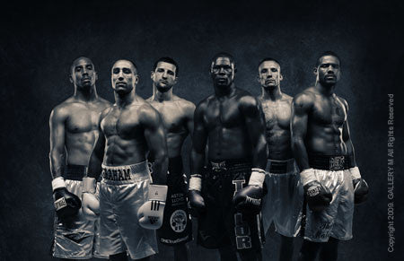 Boxing Study #1330 Showtime, Super Six Group by Howard Schatz