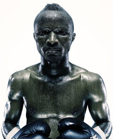 Boxing Study #1338 Joseph Agbeko by Howard Schatz