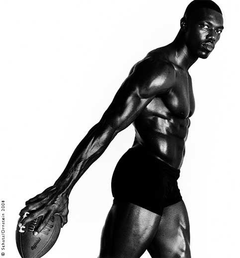 Terrell Owens Football #10 by Howard Schatz