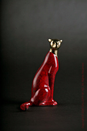 Cheetah, Seated, Jewel by Loet Vanderveen