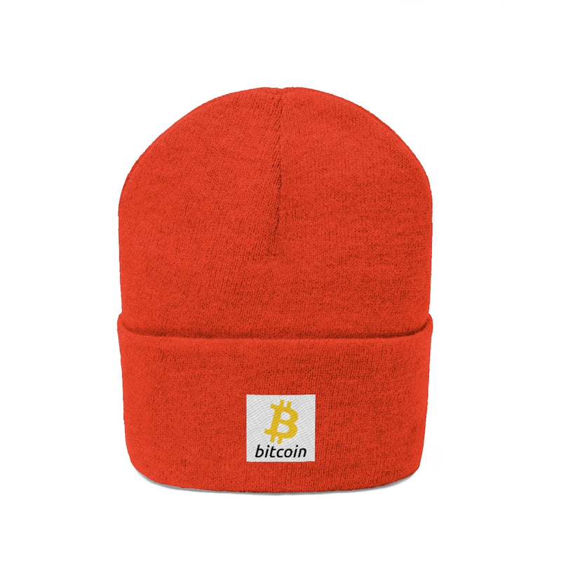 EMBROIDERED BITCOIN PATCH BEANIE