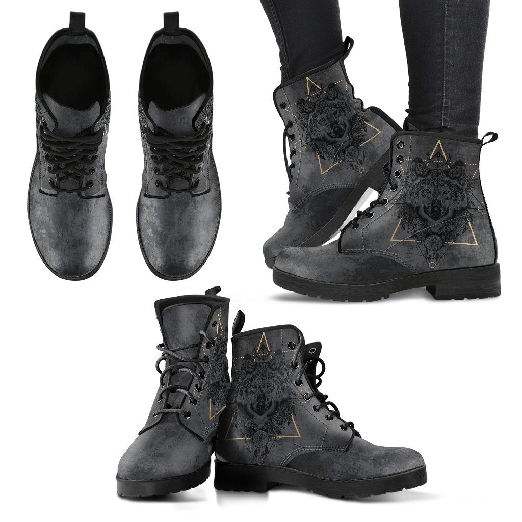 Spiritual Wolf Handcrafted Boots