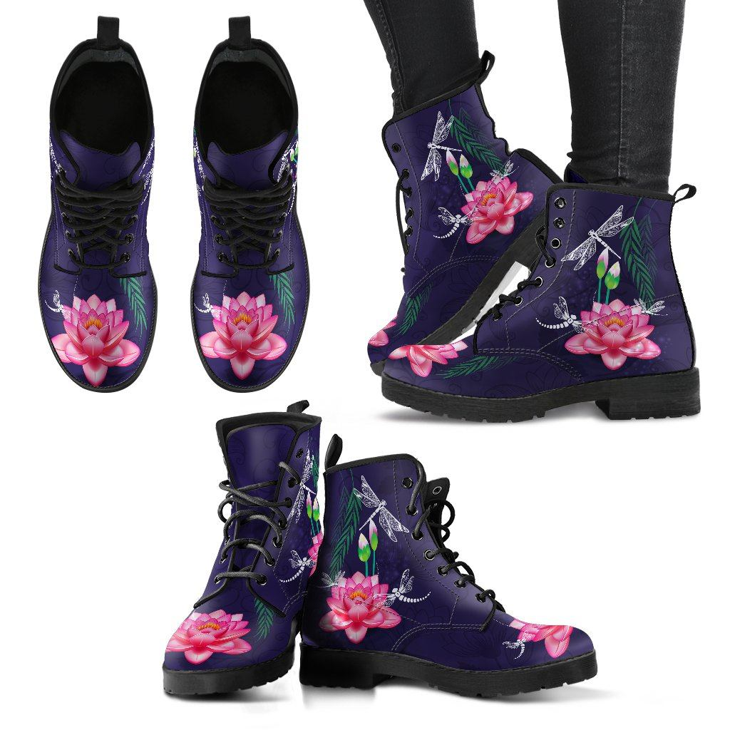 Dragon Lotus Handcrafted Boots