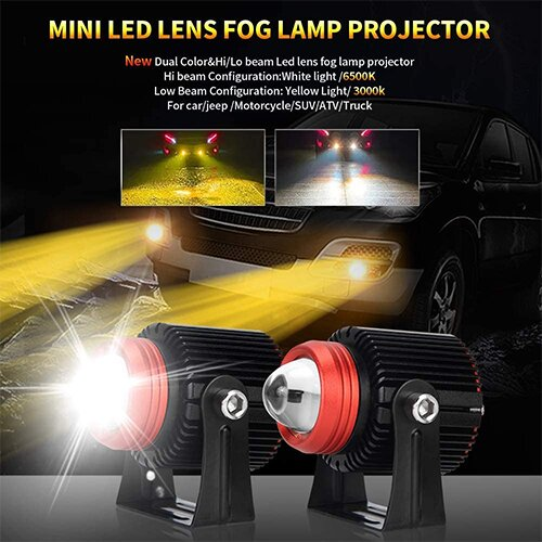 Motorcycle&Car LED Driving Lights(2 PACKS)