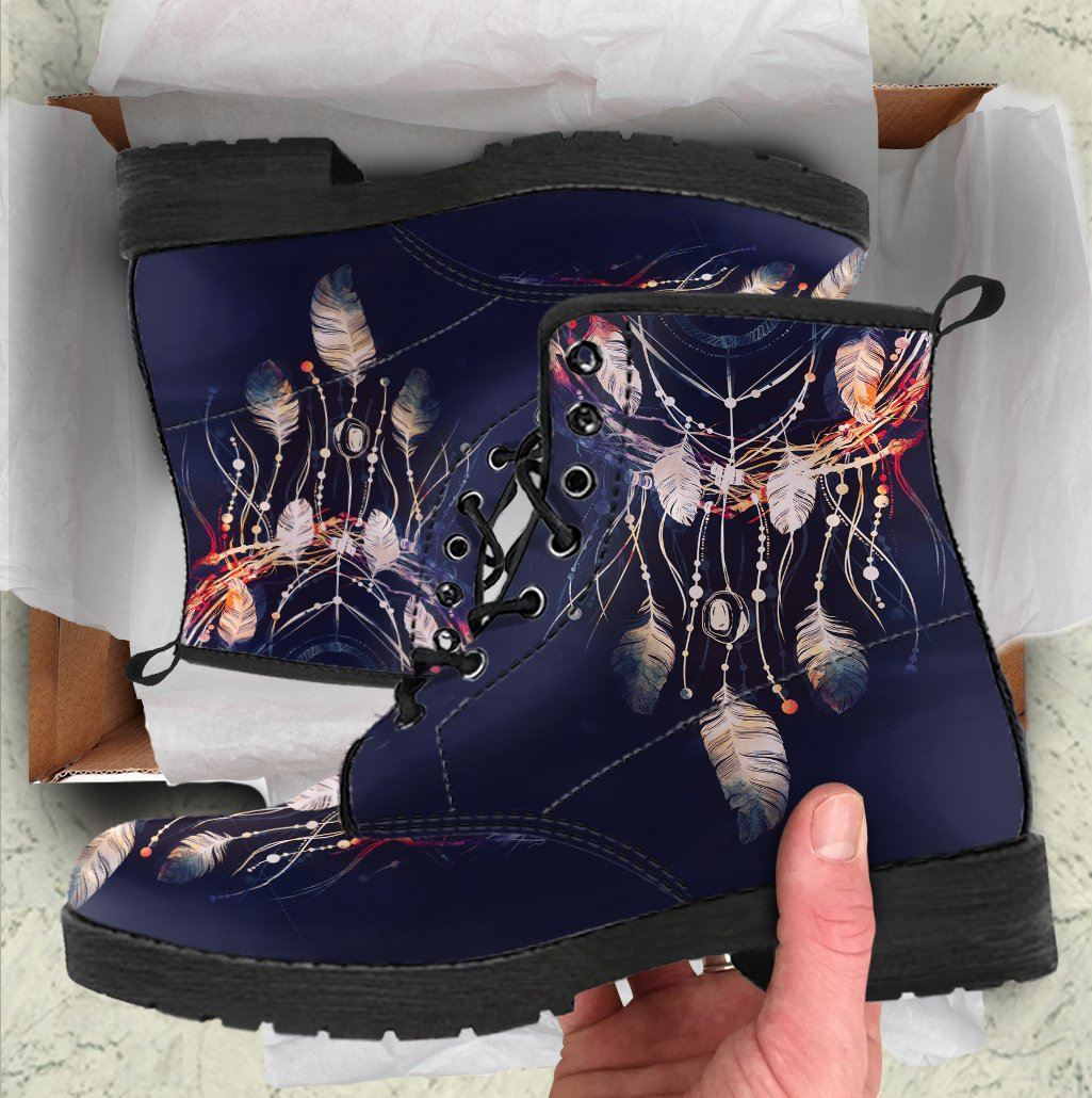 Dark Dreamcatcher Handcrafted Boots