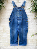 Load image into Gallery viewer, Vintage Key Mid Wash Dungarees Size Approx Size 14