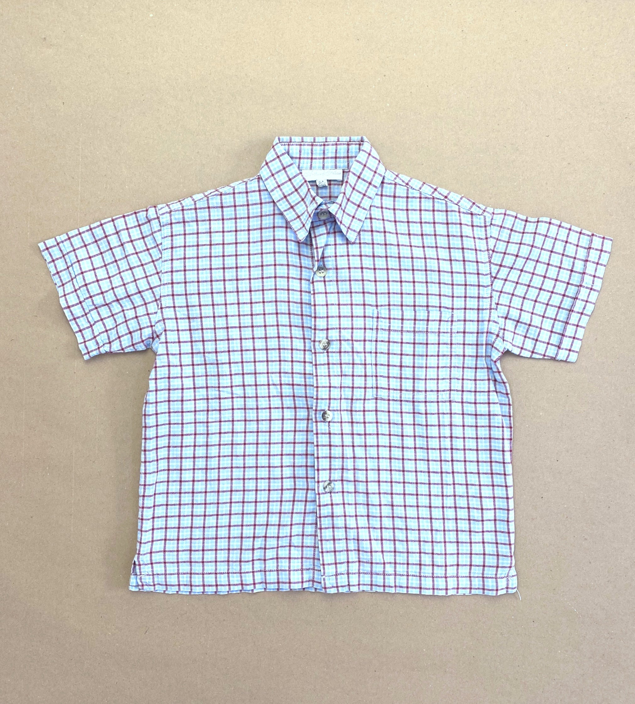 Vintage Arthur & Félicie Checked Shirt Age 5 Years