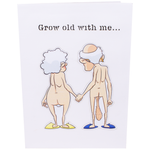 Grow Old Inappropriate 3D Greeting Card