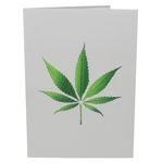 3D pot plant inside a funny weed greeting card for stoners.
