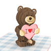 Bad Bear Inappropriate 3D Greeting Card