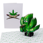 Cannibisism 3D Weed Card
