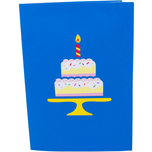 Surprise Cake Girl Birthday Card