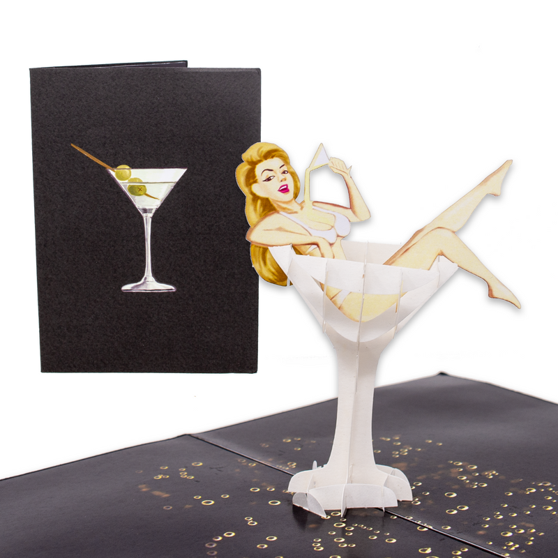 Martini Doll Inappropriate Card