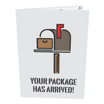 Package Arrived Inappropriate Dick Card (Color Variation: Brown)