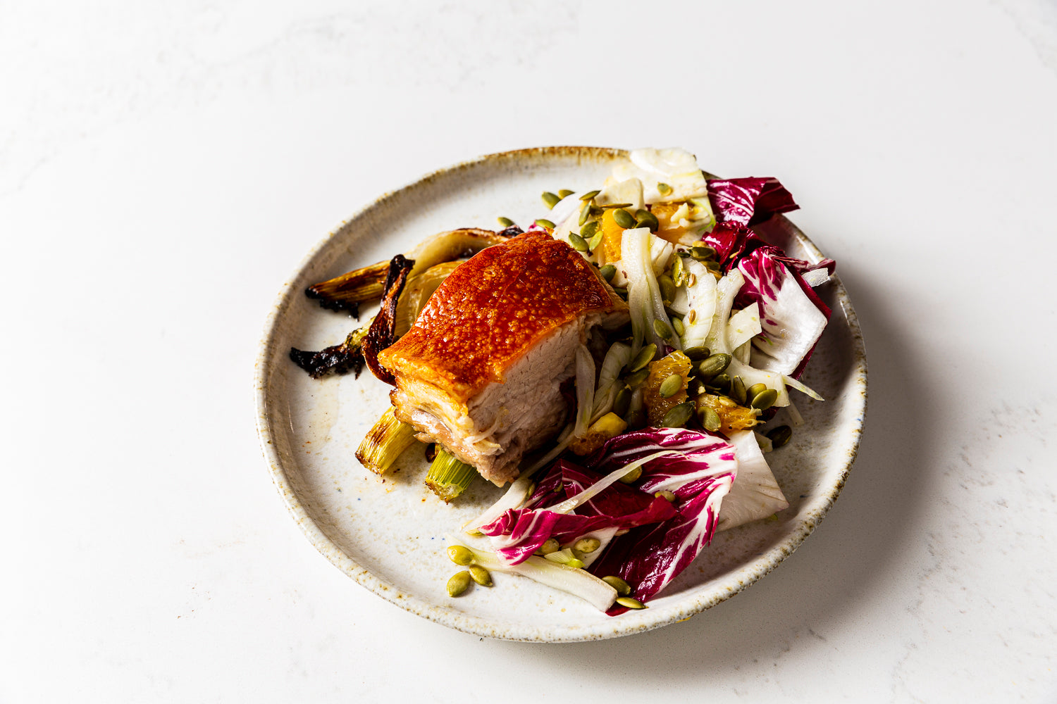 Porchetta, fennel, radicchio & orange salad