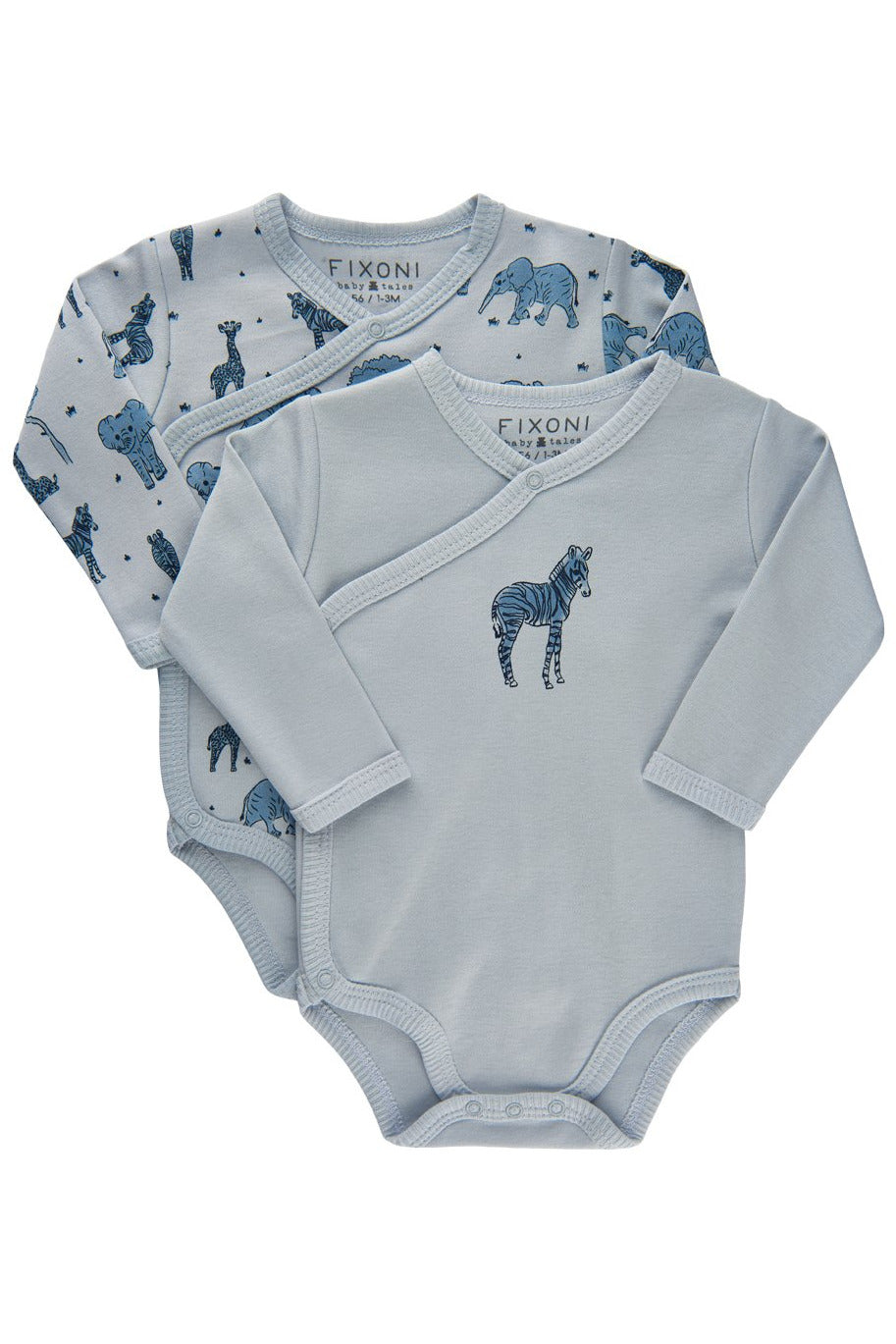 Fixoni Baby Long Sleeve Bodysuits Set of 2    34207    Baby Blue