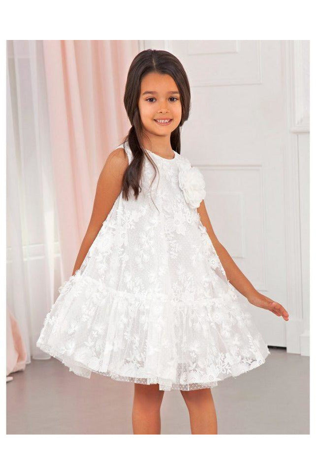 Abel and Lula White Lace Dress