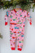 Hatley Baby Coverall and Hat Retro Christmas Pink