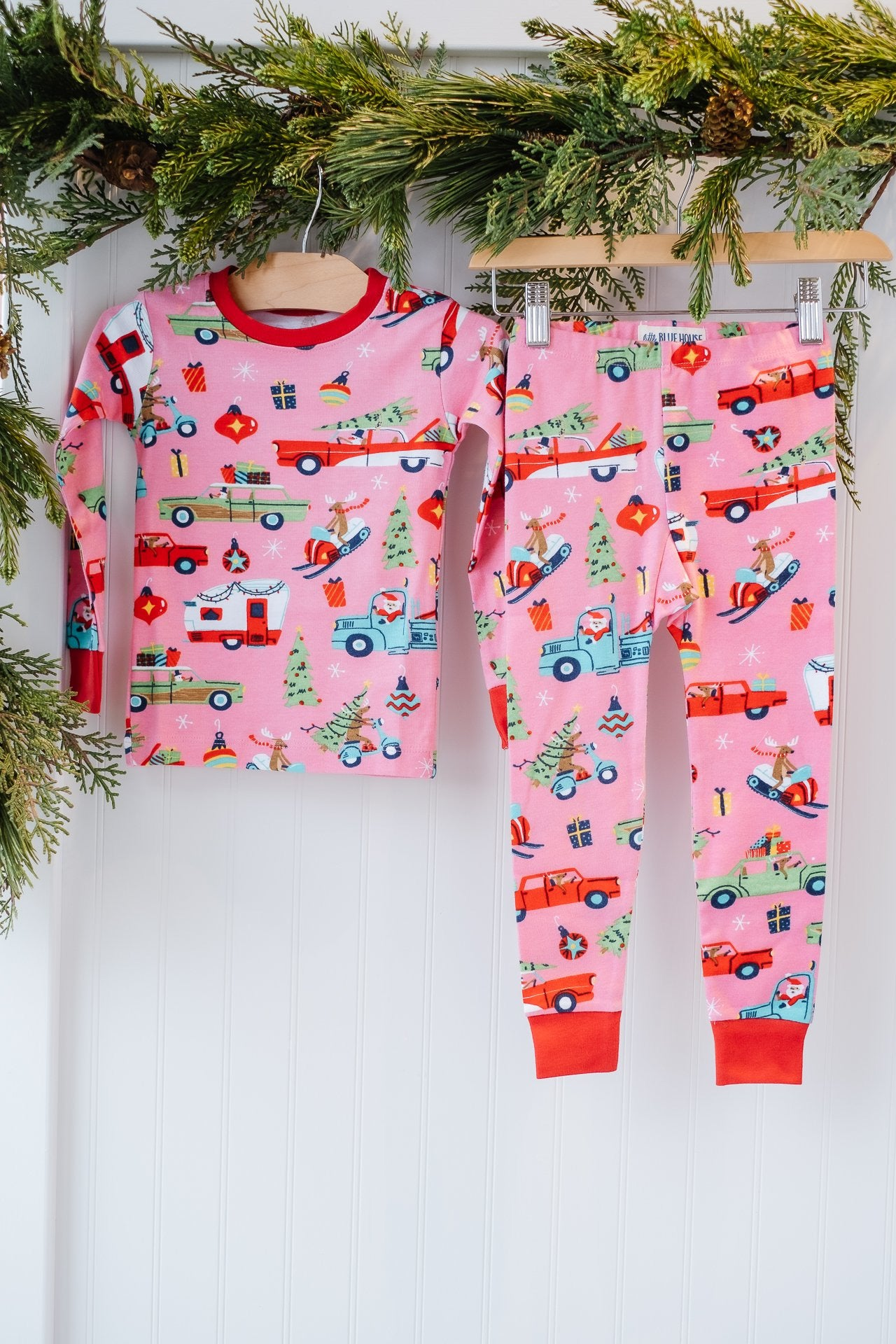Hatley Girls PJ Set Retro Christmas