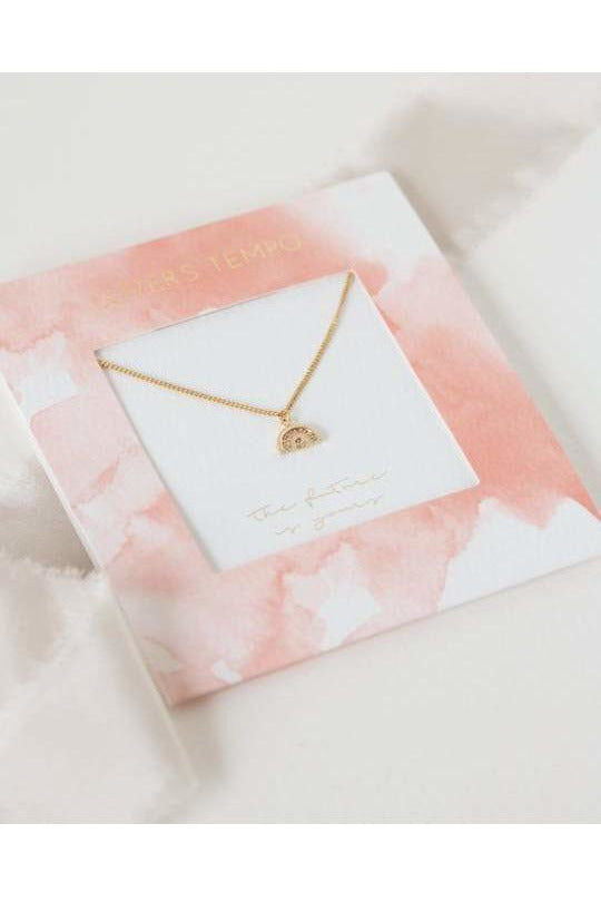 Lover's Tempo The Future is Yours Pave Rainbow Necklace Gold