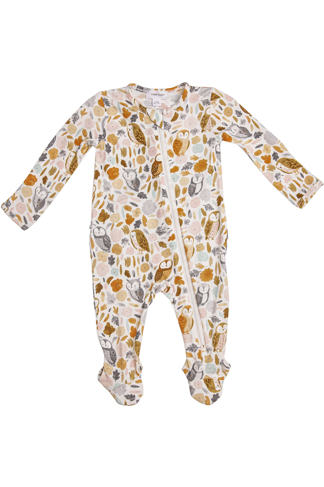 Autumn Owls Zipper Footie