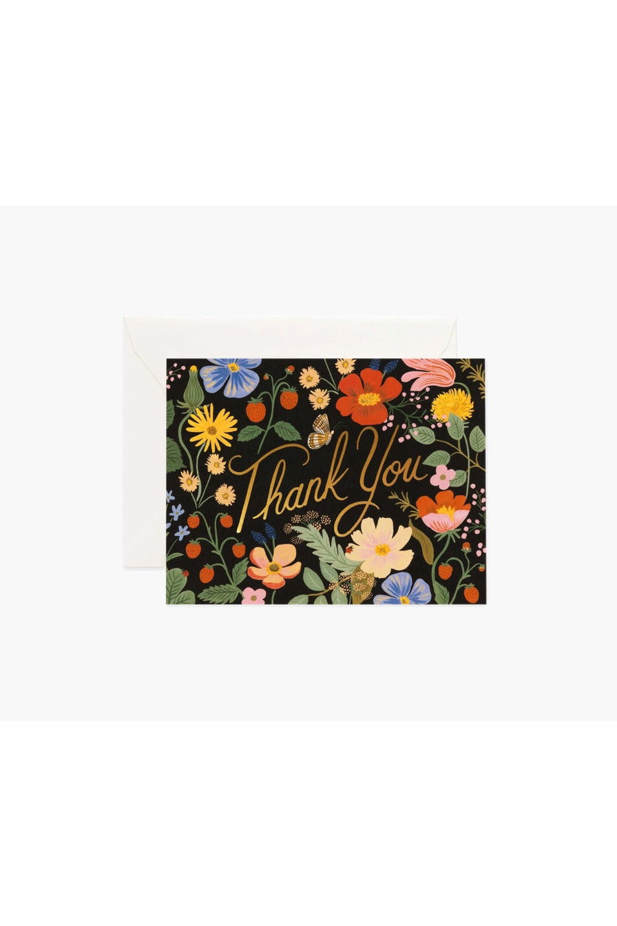 Rifle Paper Co. Card Strawberry Fields Thank You