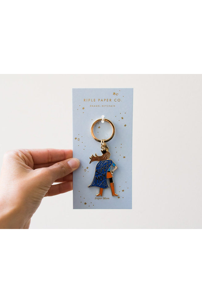 Rifle Paper Co. Super Mom Keychain