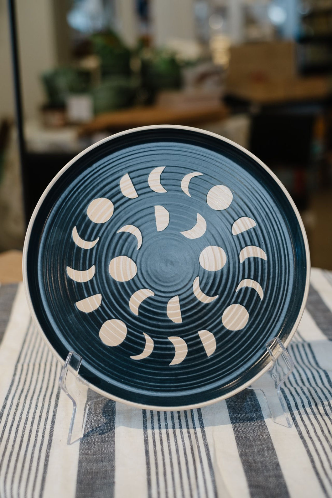 Moon Phases Imprint Ink Dinner Plate