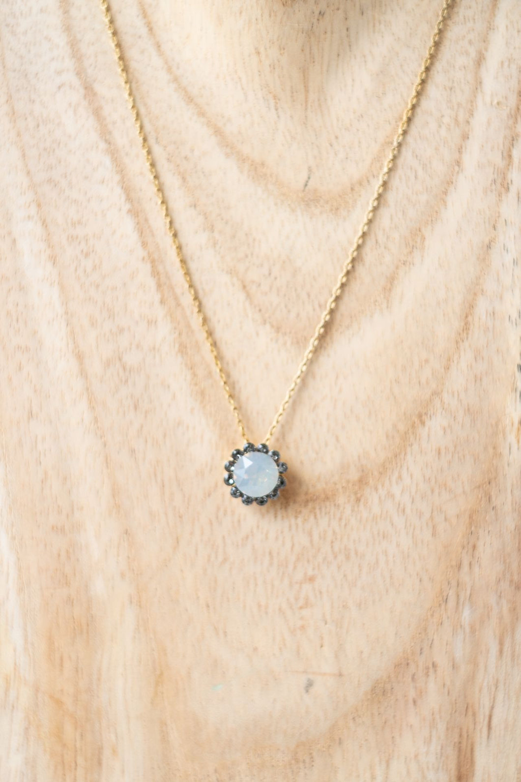 La Vie Parisienne Crystal Moonstone Necklace