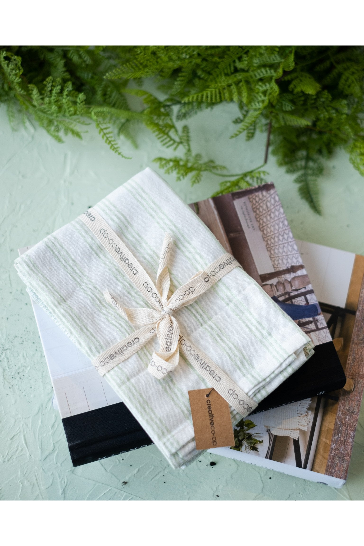 Tea Towels in Soft Green