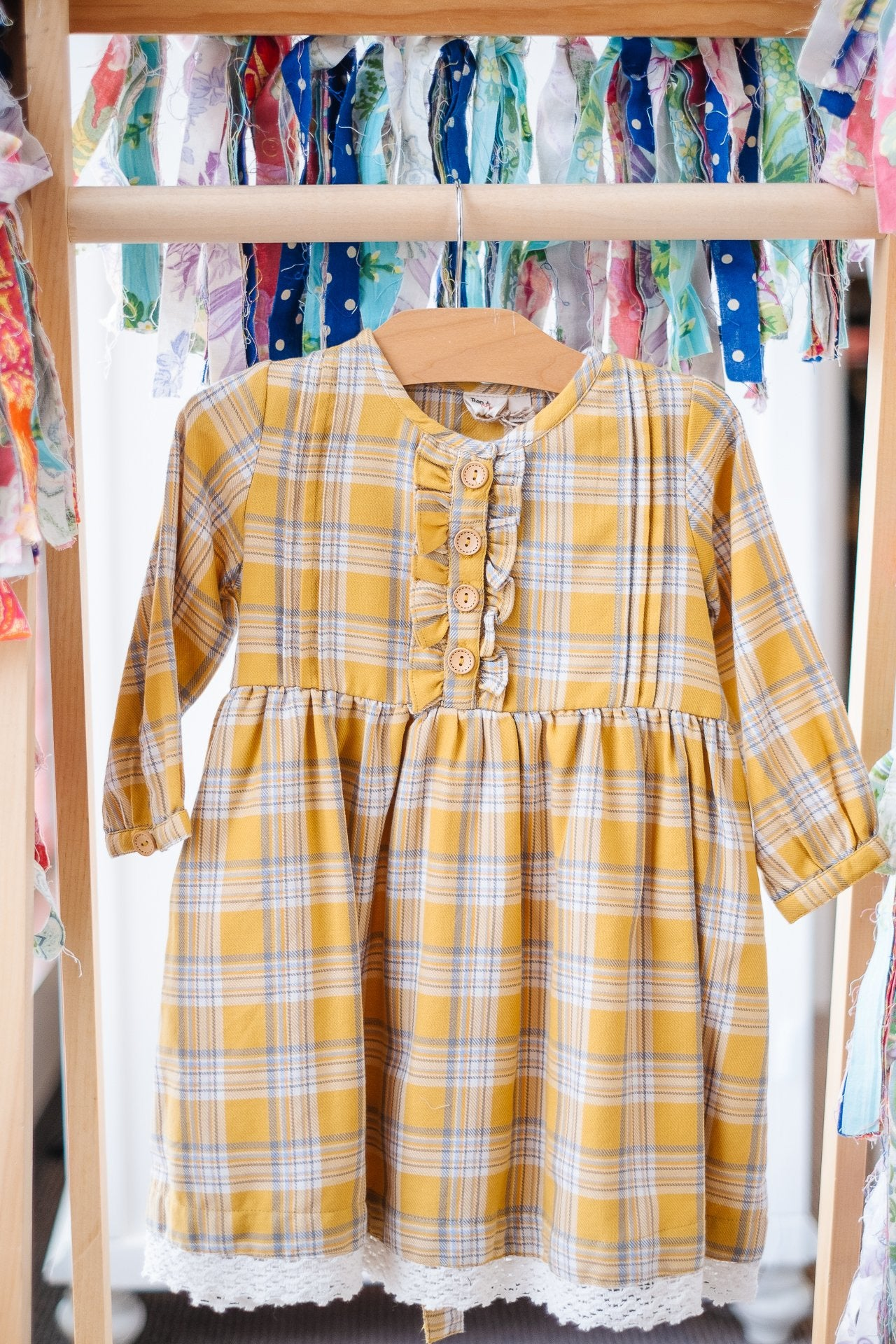 Ren & Rouge Yellow Plaid Dress  SD503