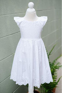 White Eyelet Dress by Mayoral