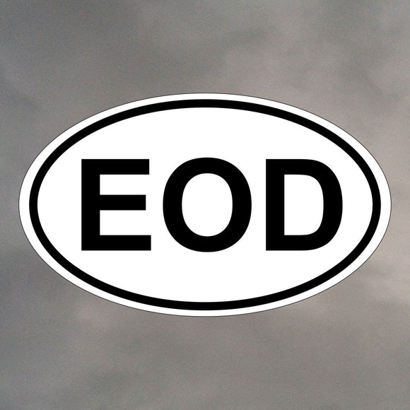 EOD OVAL STICKER 0001