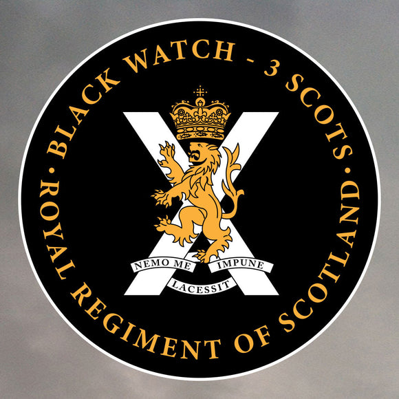 BLACK WATCH ROUND STICKER 0002